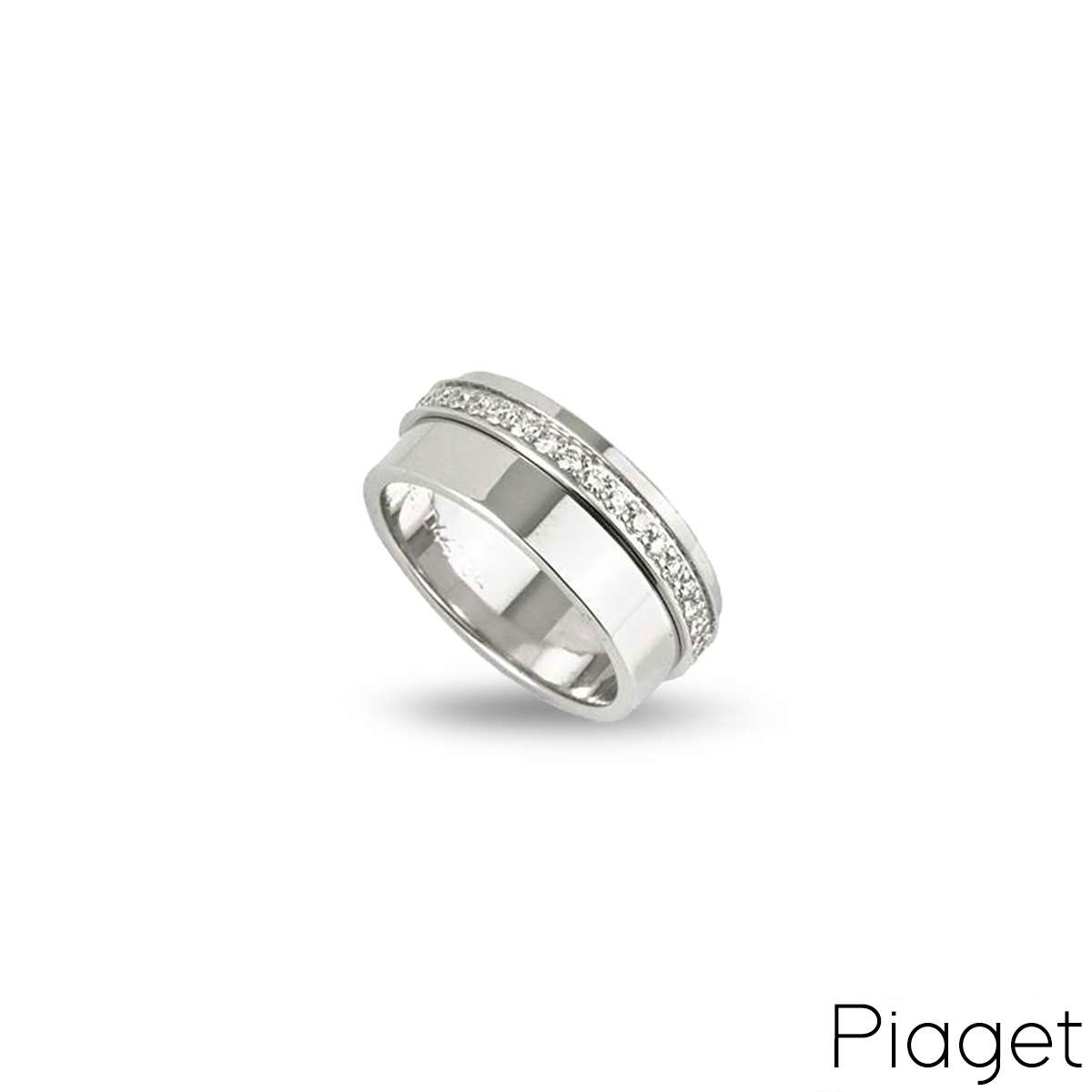 Piaget 18k White Gold Diamond Set Possession Ring B&P G34PX455